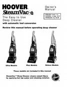 Hoover SteamVac Models Ultra Plus and Deluxe Owner's Manual