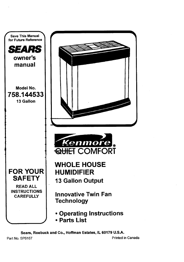 search sears refrigerator user manuals manualsonline com rh kitchen manualsonline com Owner S Manual Craftsman 917 sears refrigerator owners manual