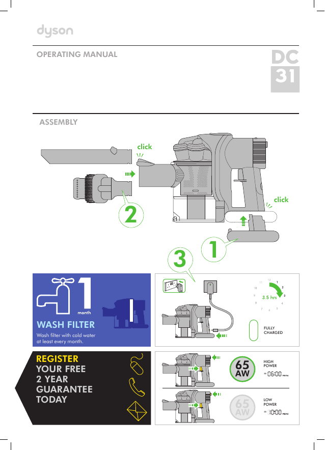 search upright user manuals manualsonline com rh manualsonline com Dyson DC23 Dyson DC41