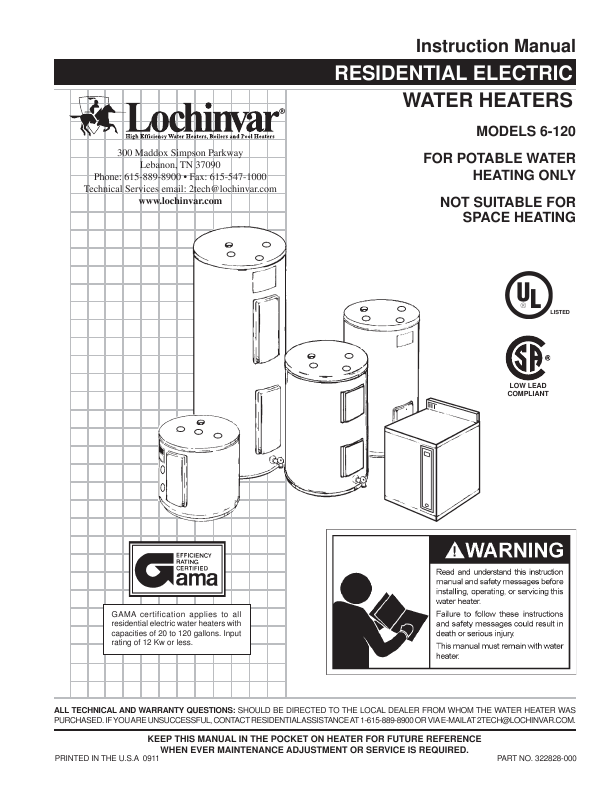 Search gas water heater User Manuals | ManualsOnline.com
