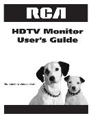 RCA User's Guide HDTV Monitor D40W20, D52W20