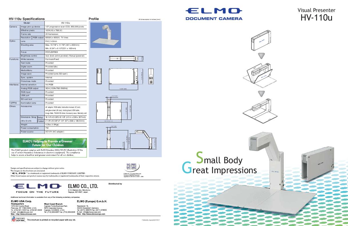 Elmo Visual Presenter HV-110U