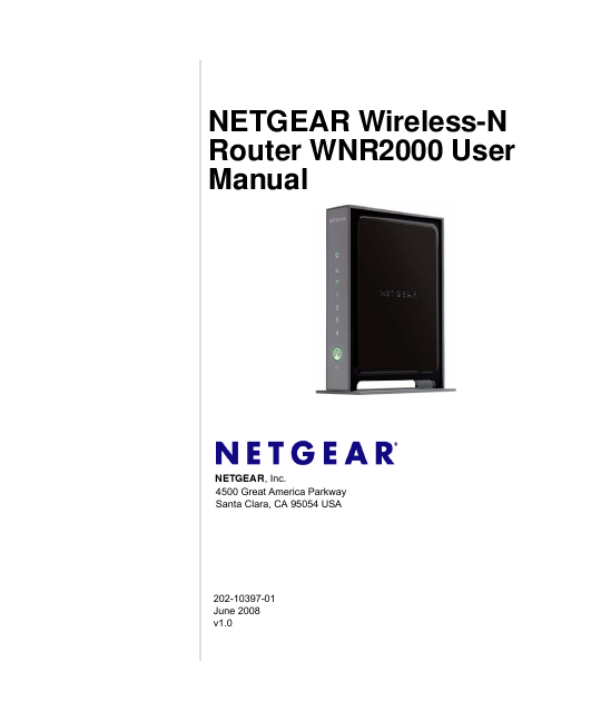 Netgear wnr2000 manual