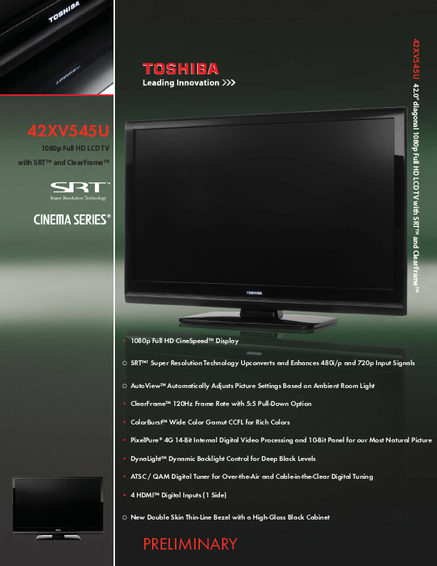 search toshiba toshiba lcd hdtv user manuals manualsonline com rh tv manualsonline com toshiba 37av502r service manual Toshiba TV Owners Manual