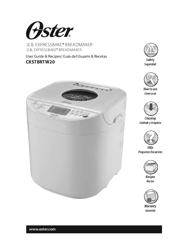 search oster breadmaker user manuals manualsonline com rh kitchen manualsonline com Oster Bread Maker Instruction Manual Oster Bread Machine Manual 4811