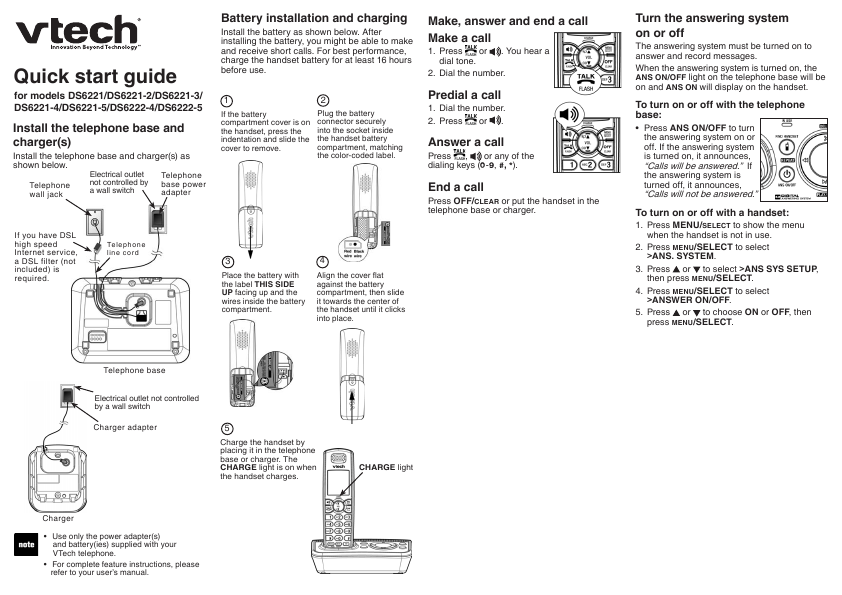 Vtech Phone Manuals Product User Guide Instruction