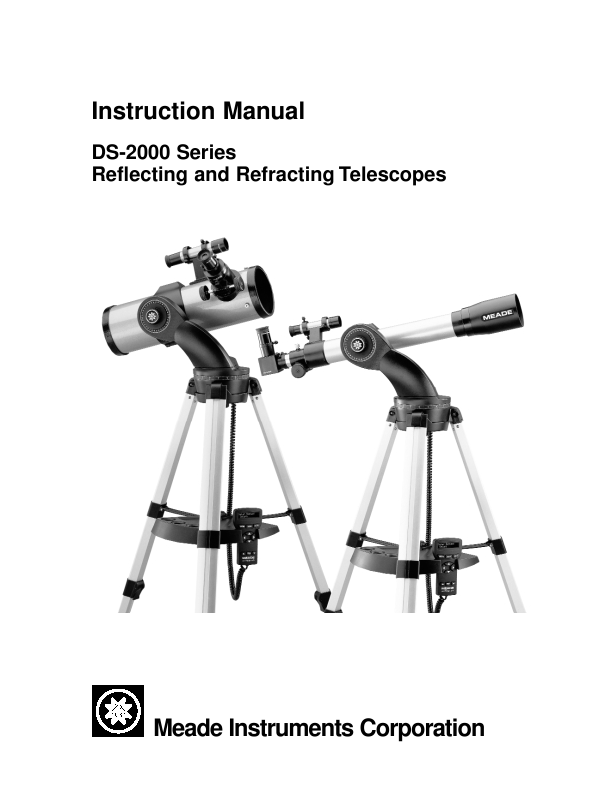 search telescope user manuals manualsonline com rh tv manualsonline com Instruction Manual Meade DS 2114Ats Manual