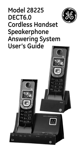 search ge user manuals manualsonline com rh tv manualsonline com Cordless Phones with Answering Machine Uniden-DECT 6.0 Answering Machine