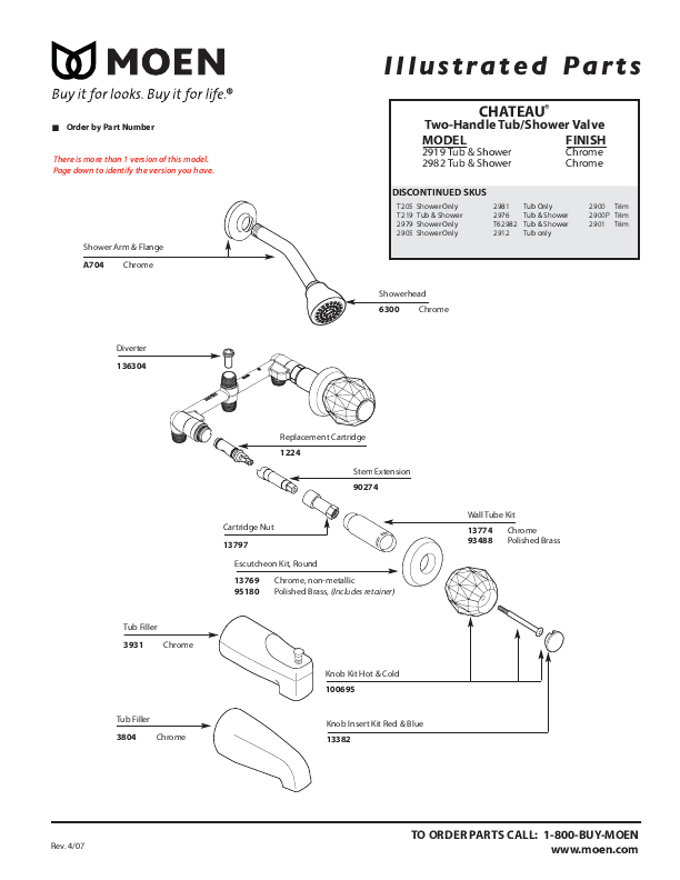 moen shower valves amp parts quotes