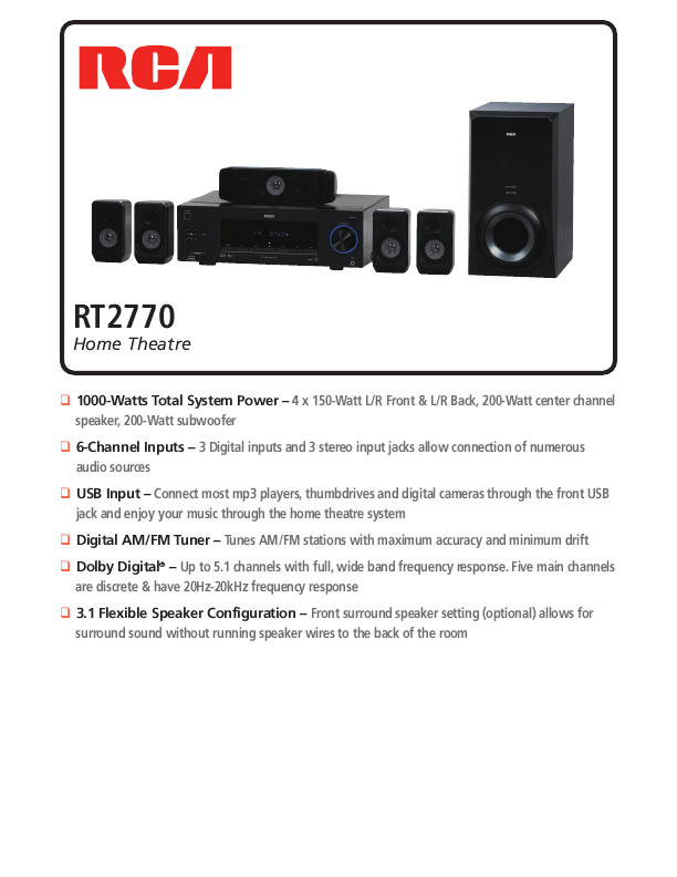 search rca rca wireless speaker system user manuals. Black Bedroom Furniture Sets. Home Design Ideas