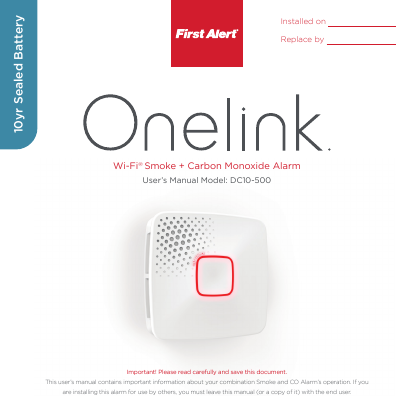 first alert smoke and carbon monoxide detector manual
