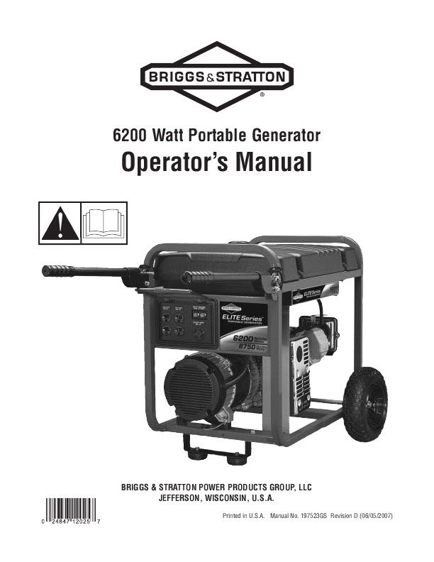 search portable generator user manuals manualsonline com rh tv manualsonline com briggs & stratton portable generator repair manual briggs & stratton 7000 watt portable generator manual