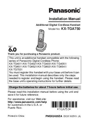 panasonic cordless telephone manual various owner manual guide u2022 rh linkrepairguide today Panasonic Mobile Phones Panasonic TV