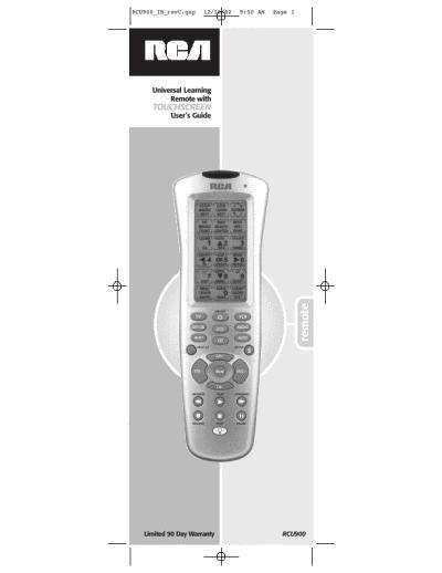rca universal remote rcu900 user s guide manualsonline com user guide for rca universal remote user guide for rca universal remote