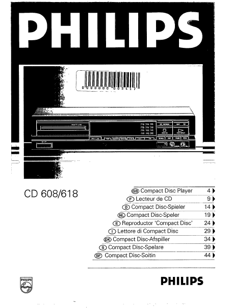 Manuel philips cd 150