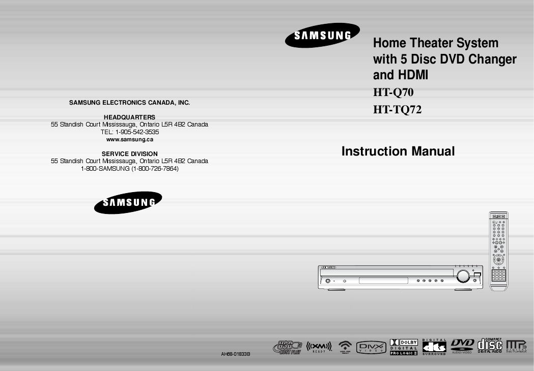 search samsung 2124 2 user manuals manualsonline com rh tv manualsonline com Samsung Home Theater System samsung ah64 manuel