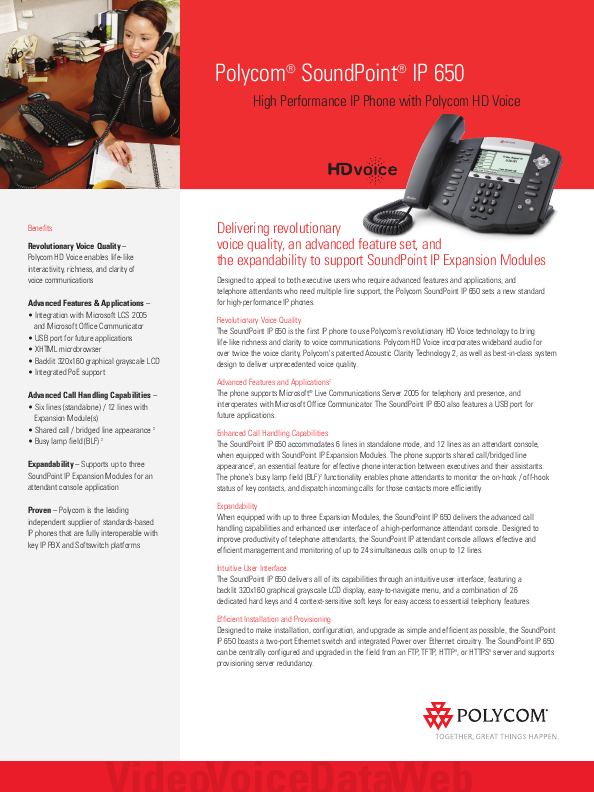 polycom high performance ip phone manual. Black Bedroom Furniture Sets. Home Design Ideas