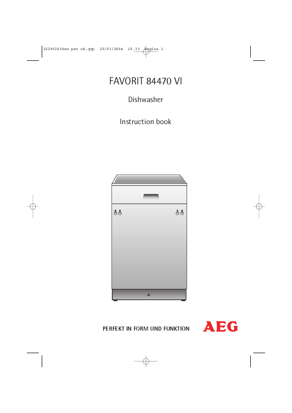 Search undercounter user manuals manualsonline aeg favorit 84470 vi sciox Choice Image