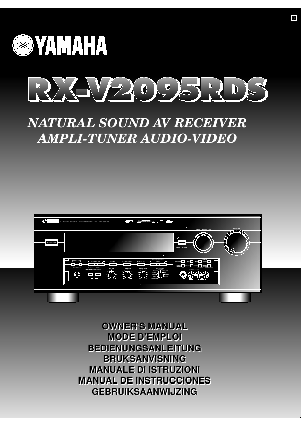 search receivers user manuals manualsonline com rh portablemedia manualsonline com Yamaha Receiver RV Yamaha Natural Sound AV Receiver Rx-663