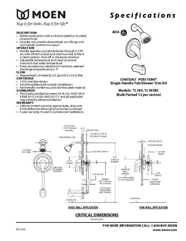 moen 7560 instructions d'installation
