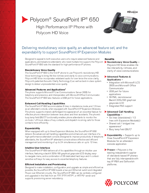 polycom soundpoint ip phone product manual