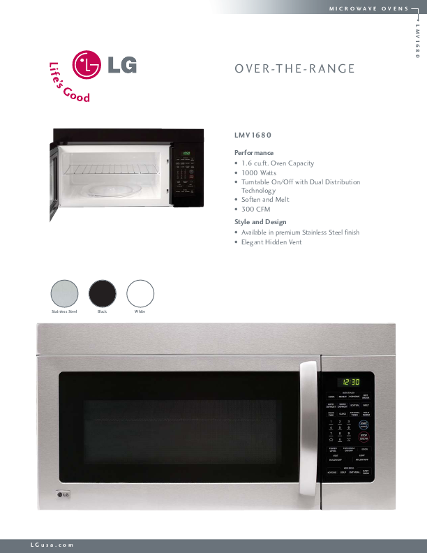 search microwave convection oven user manuals manualsonline com rh manualsonline com LG Stainless Washer LG Microwave Over the Range