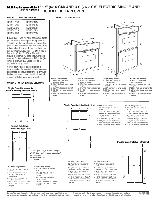 Kitchenaid Double Oven 122 User S Guide Manualsonline Com