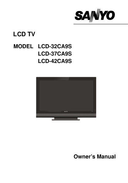 search sanyo sanyo lcd flat panel tv user manuals manualsonline com rh tv manualsonline com Sanyo 46 LCD TV Parts Sanyo TV Replacement Stands