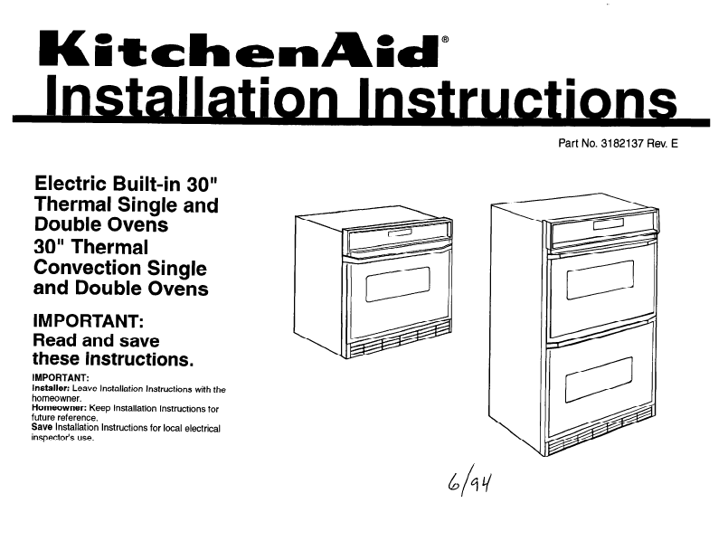 Kitchenaid Double Oven Double Oven User S Guide