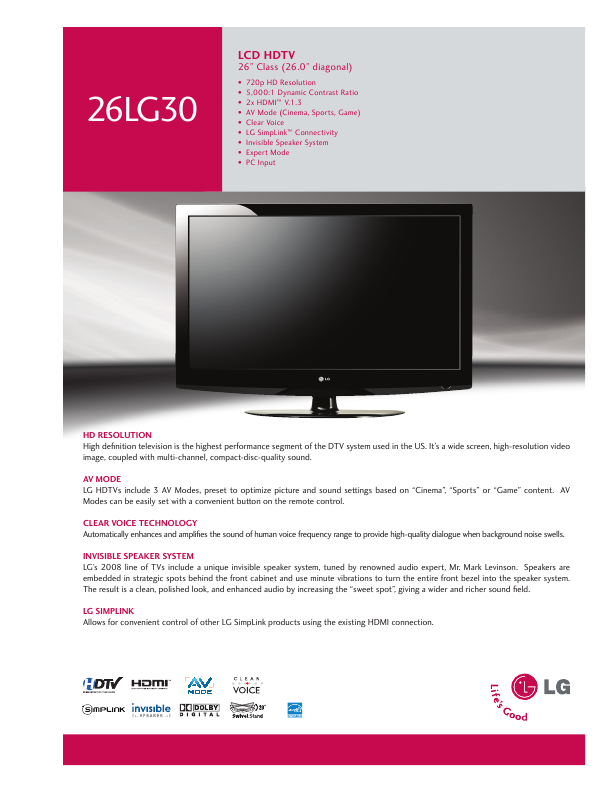 Free LG Electronics TV and Video User Manuals