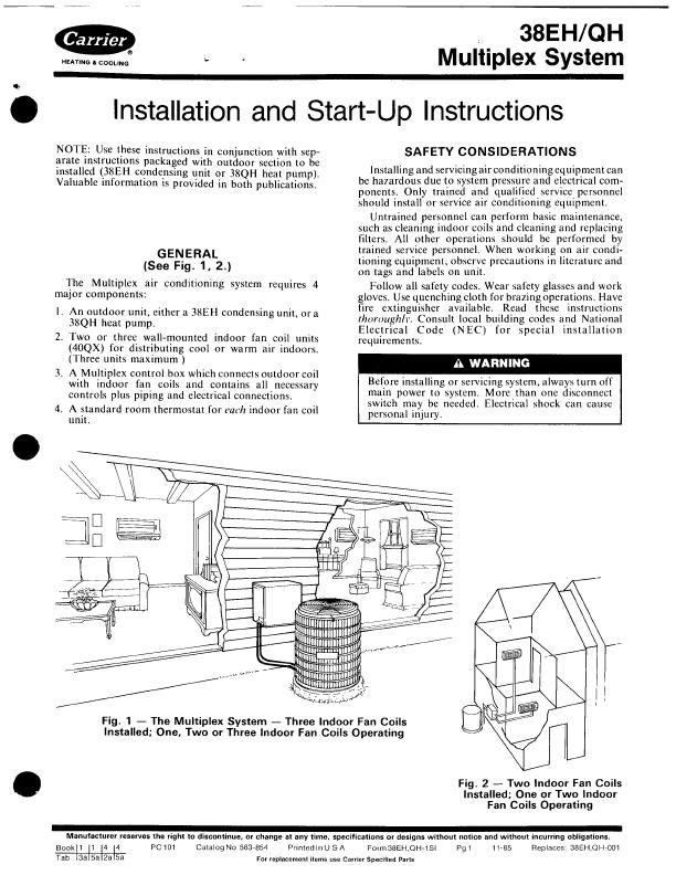 Carrier heat pump user manual manualsonline