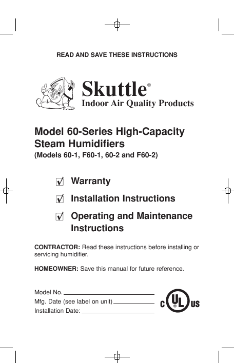 Search steam humidifiers User Manuals | ManualsOnline.com