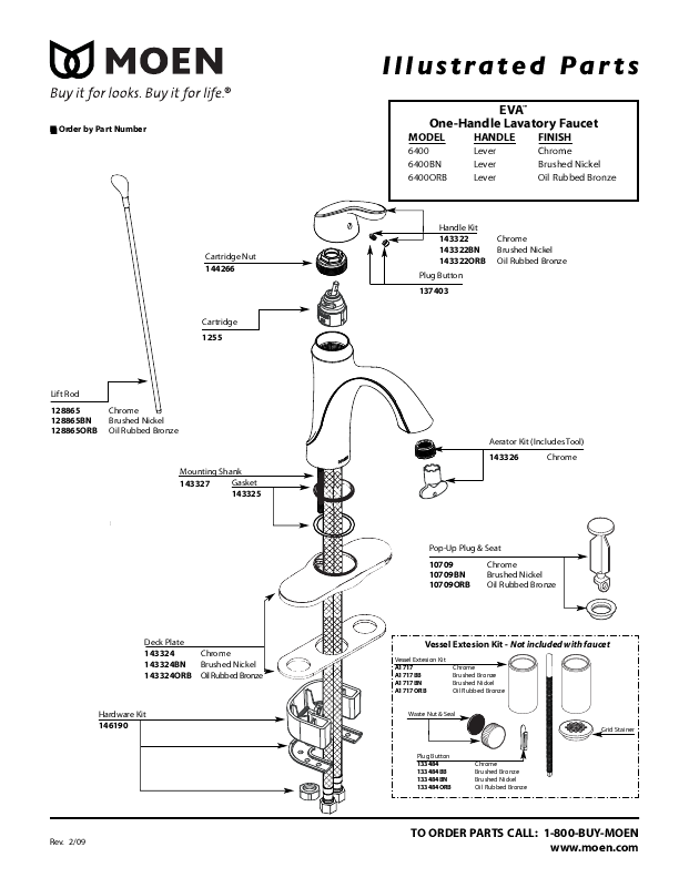 Moen Shower Faucet Diagram ...