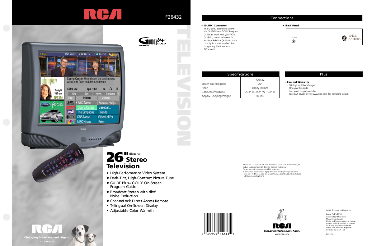 pin thomson rca chassis itc222 sm service manual free