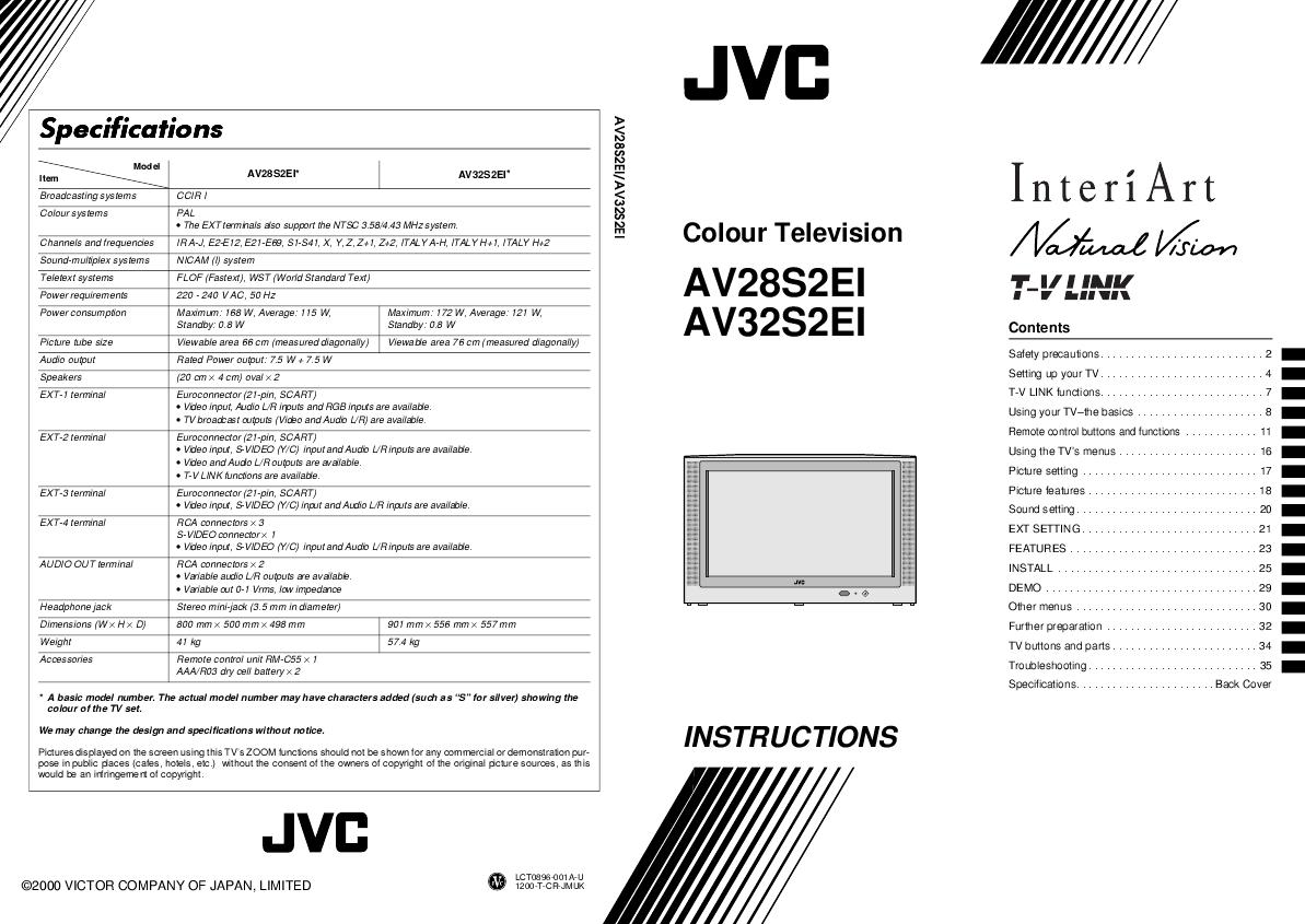 JVC AV32S2EI, AV28S2EI