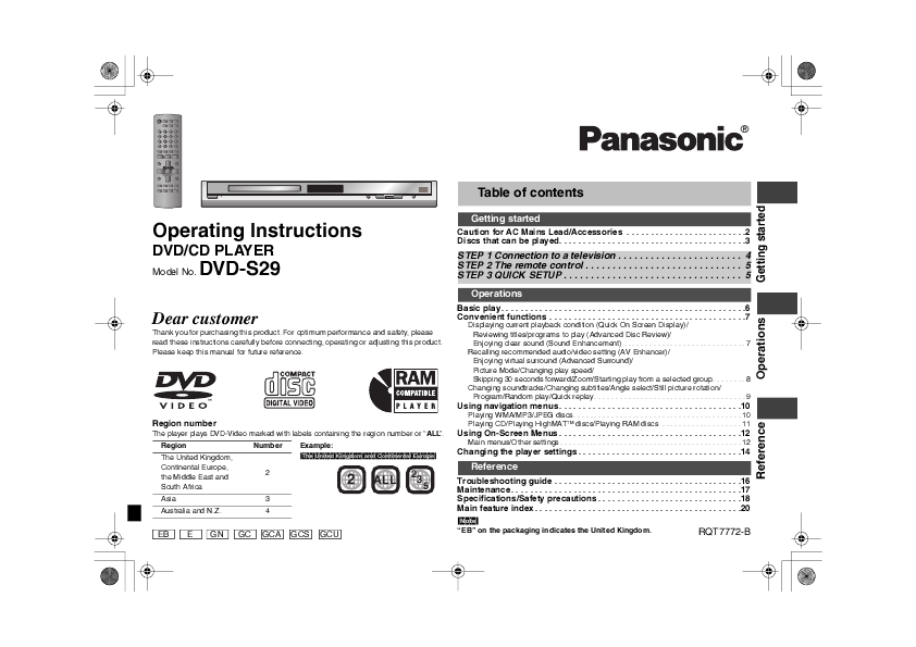 panasonic double feature dvd vcr manual