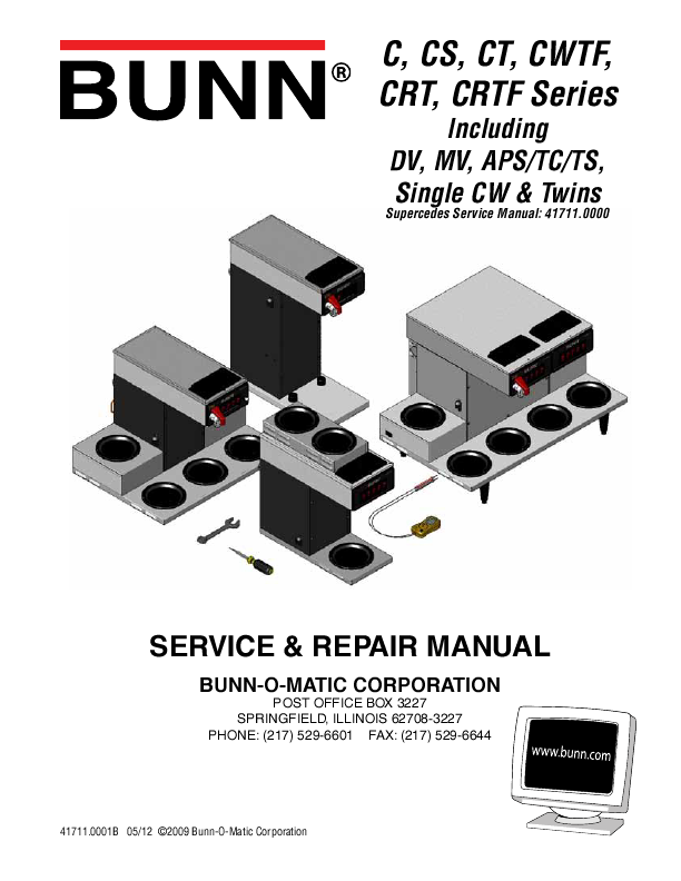 Bunn Coffee Maker User Guide : BUNN Operating and Service Manual ManualsOnline.com