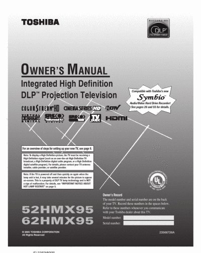 search fro user manuals manualsonline com rh powertool manualsonline com Toshiba 56 DLP HDTV Weight of Toshiba 56HM66