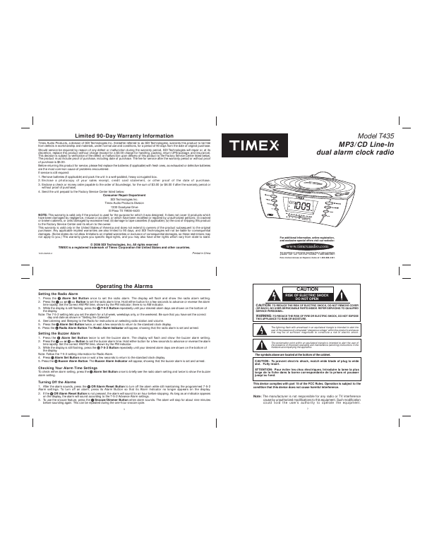 search timex t235p type tip ct tip user manuals manualsonline com rh manualsonline com timex t622h manual pdf Timex Alarm Clock Instruction Manuals