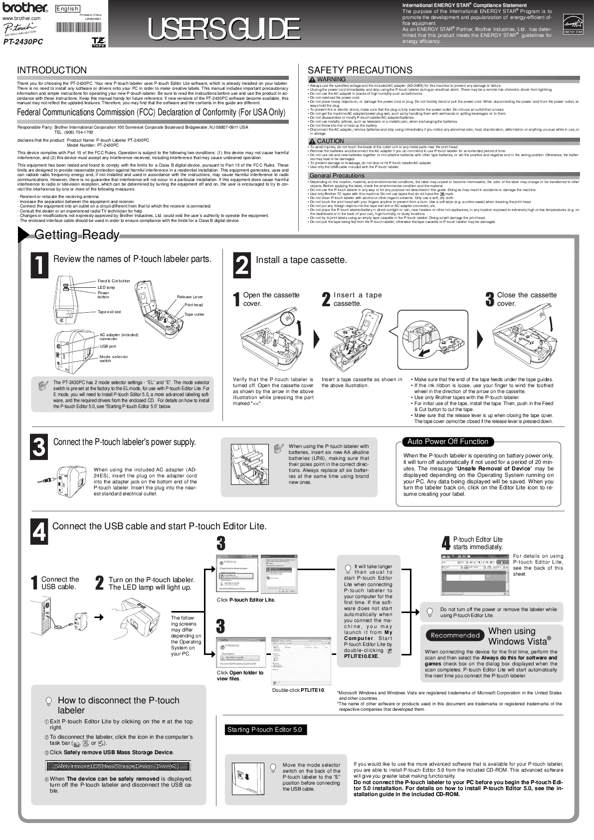 brother p touch pt 1290 user manual