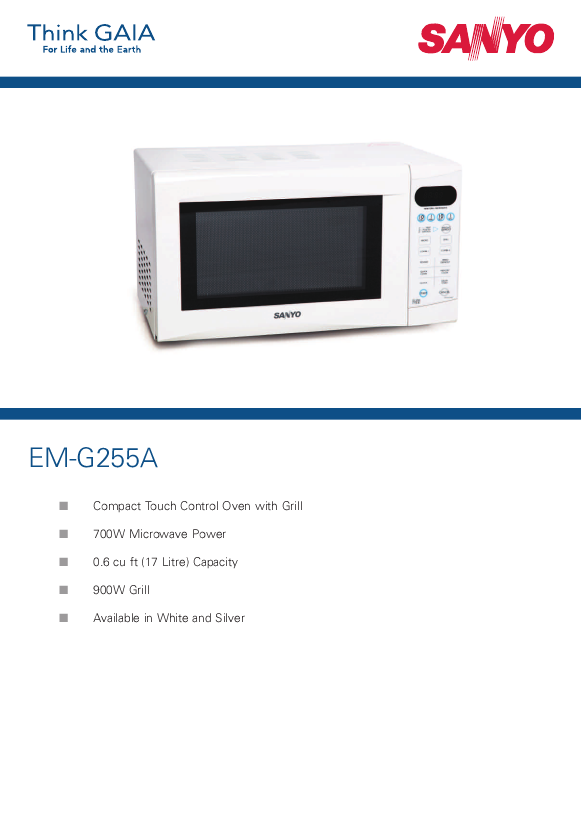 search convection user manuals manualsonline com rh manualsonline com Sanyo Microwave Grill Sanyo Convection Microwave