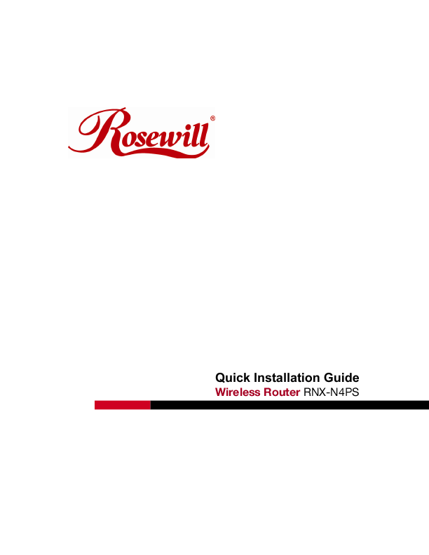 Rosewill rnx-n4ps user manual | manualzz. Com.