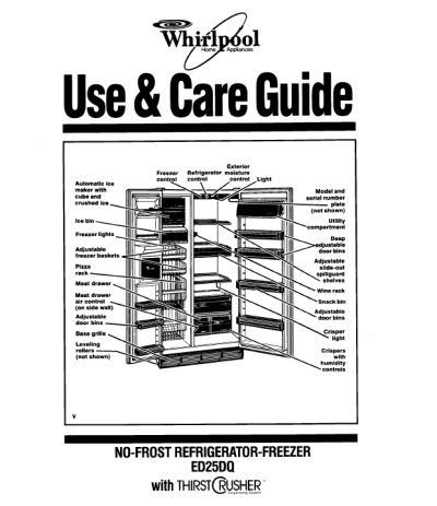 Side by side refrigerator owners manual for whirlpool side by side images of owners manual for whirlpool side by side refrigerator fandeluxe Gallery