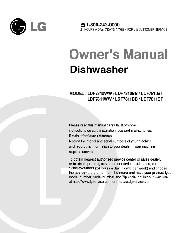 lg tv instruction manual