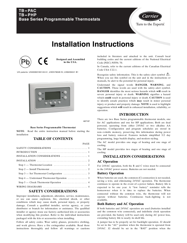 Se Remote Universal User Manuals Manualsonline. Carrier Tbpac. Wiring. 33cs450 01 Thermostat Wiring Diagram At Scoala.co