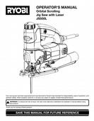 Ryobi Orbital Scrolling Jig Saw with Laser model JS550L OPERATOR'S MANUAL