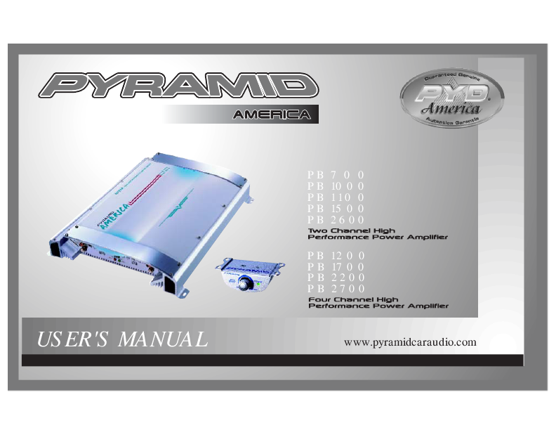 search stereo amplifier user manuals manualsonline com rh tv manualsonline com Pyramid Amps Any Good Pyramid Speakers