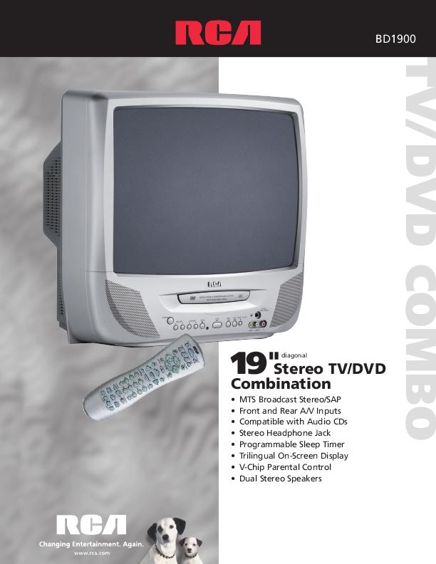 rca tv dvd user 39 s guide. Black Bedroom Furniture Sets. Home Design Ideas