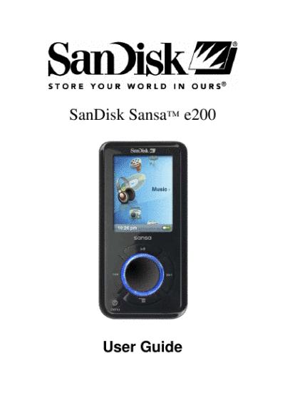 sandisk инструкция по эксплуатации