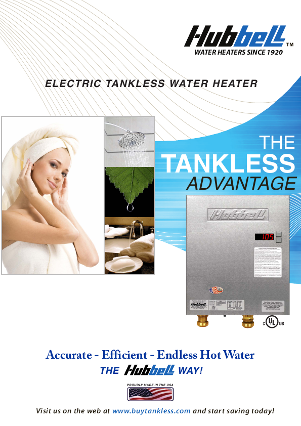 Tankless Water Heater Guide has information about Tankless Water Heaters operation, selection, requirements, installation, maintenance and manufacturers.